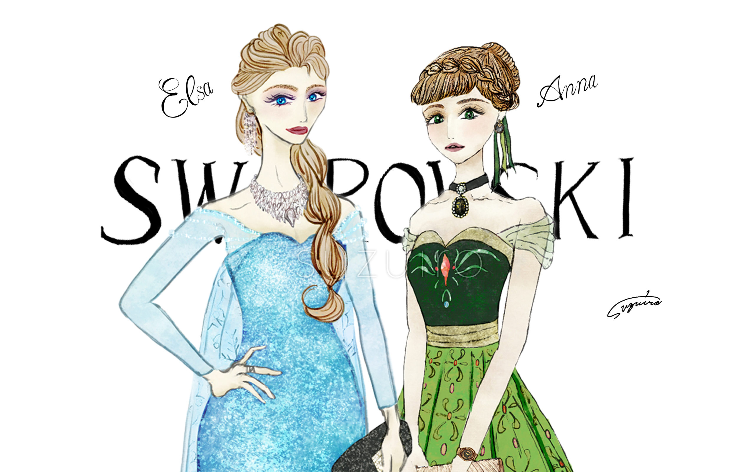 Frozen  x SWAROVSKI|Illustration Column